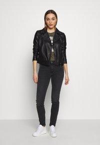 Armani Exchange - Veste en cuir - black - 1