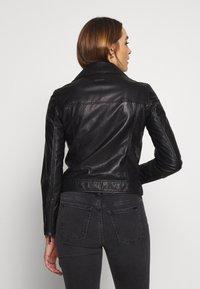 Armani Exchange - Veste en cuir - black - 2