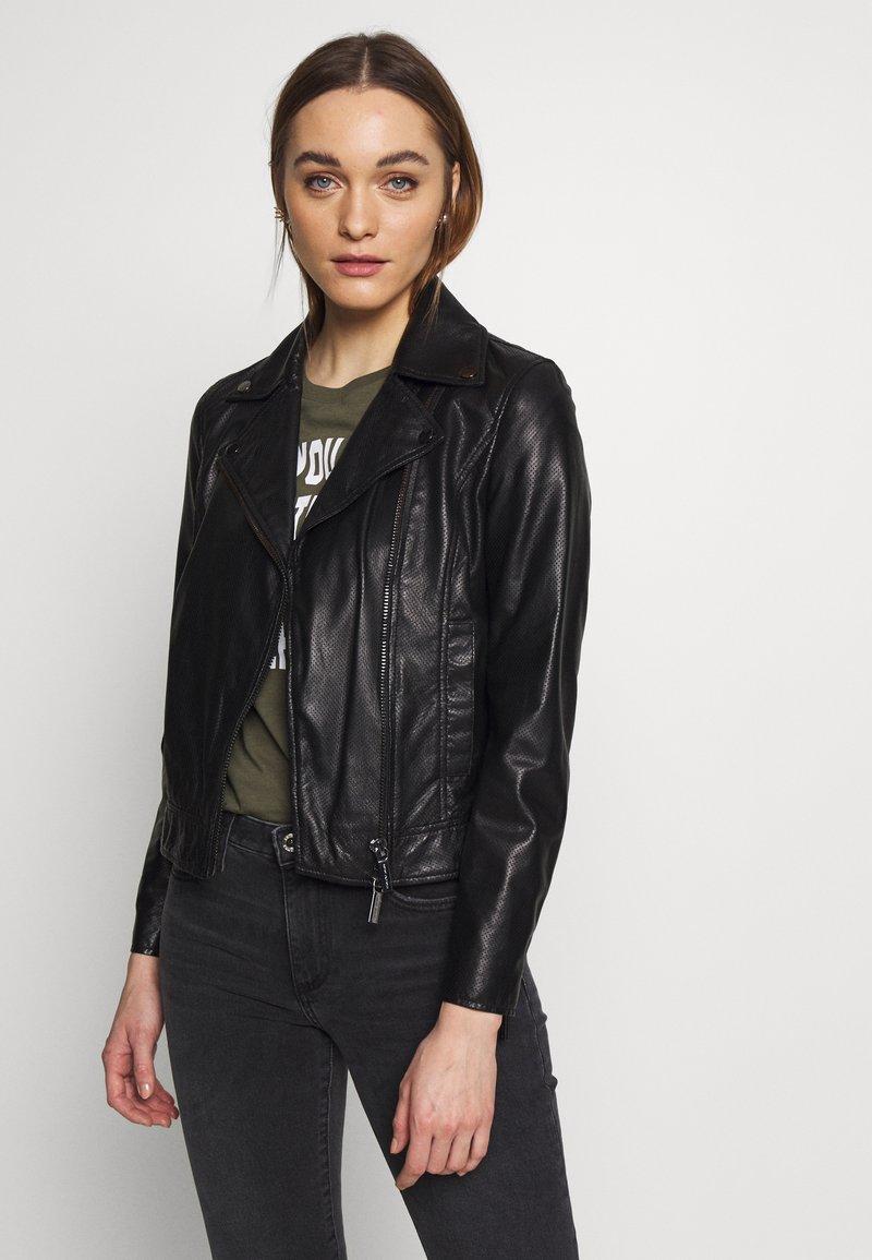 Armani Exchange - Veste en cuir - black