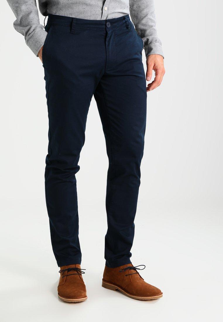 Armani Exchange - Spodnie materiałowe - navy