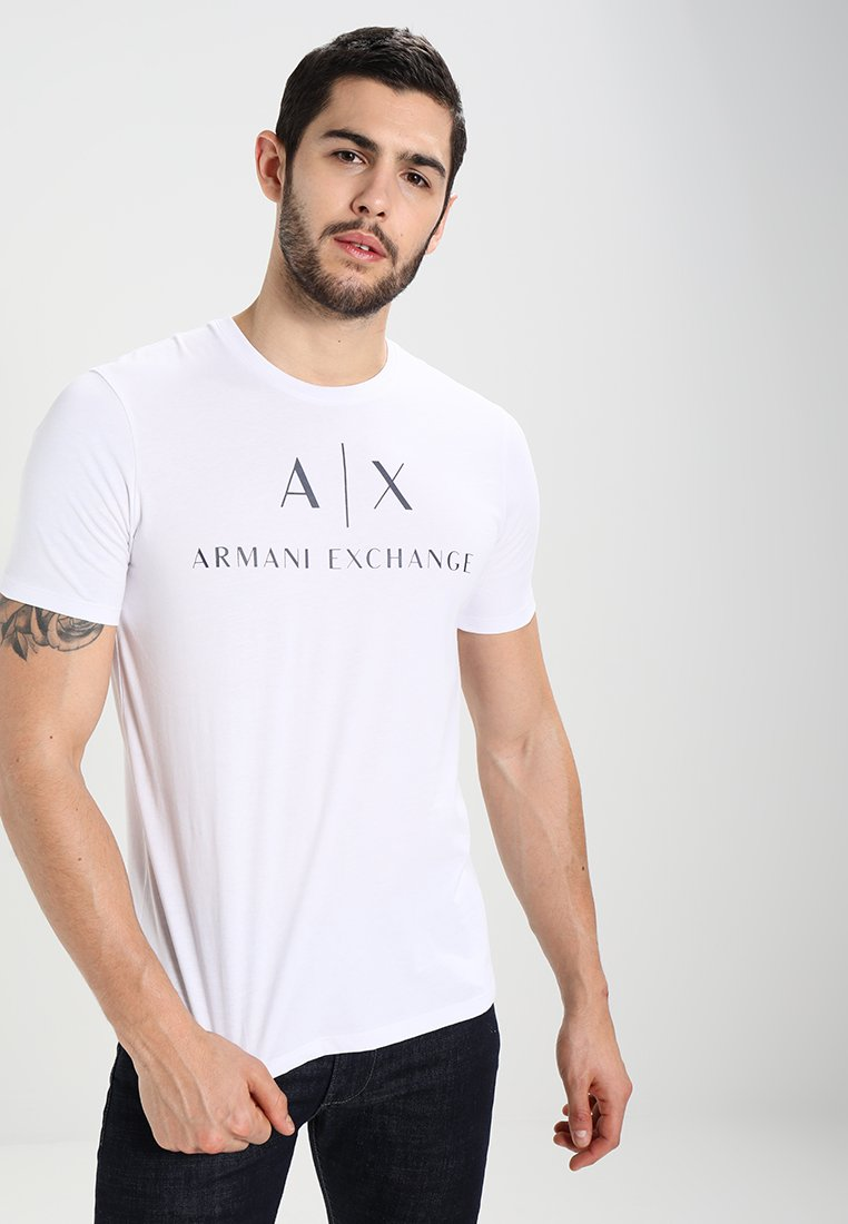 Armani Exchange T-shirt z nadrukiem - white