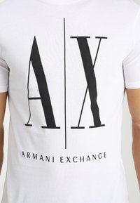 Armani Exchange - T-shirt imprimé - white - 5