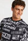 Armani Exchange - T-shirt imprimé - black/white