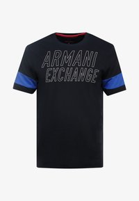 Armani Exchange - T-shirts med print - navy - 4
