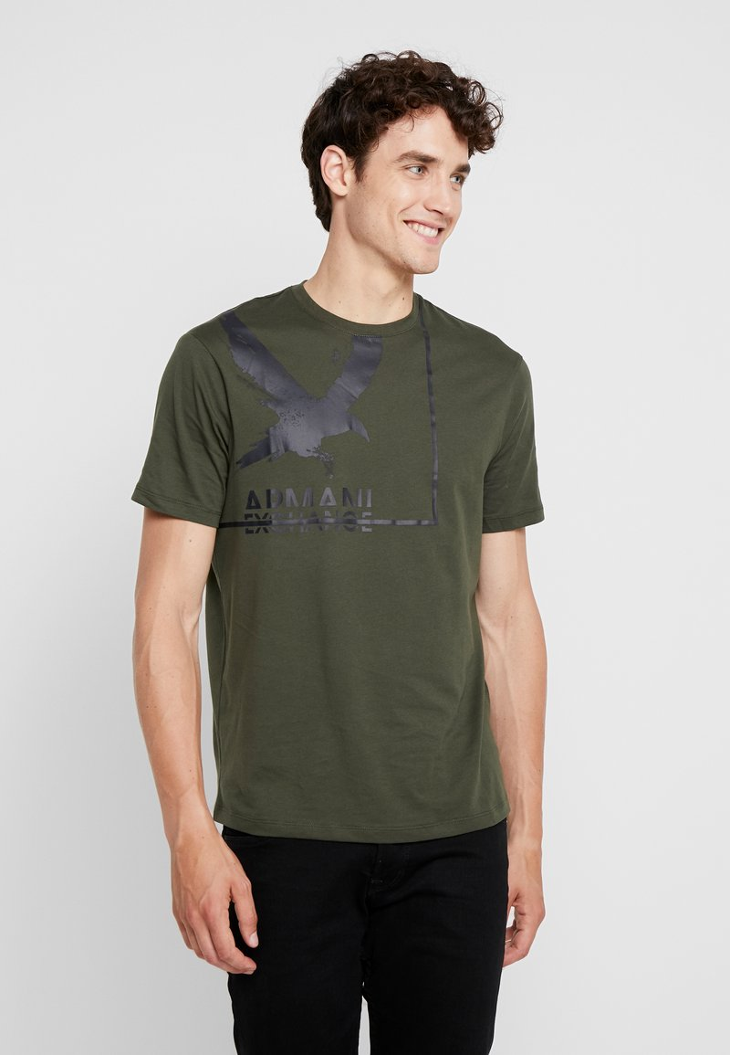 Armani Exchange - T-shirt med print - deep depths