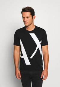 Armani Exchange - T-shirt z nadrukiem - black - 0