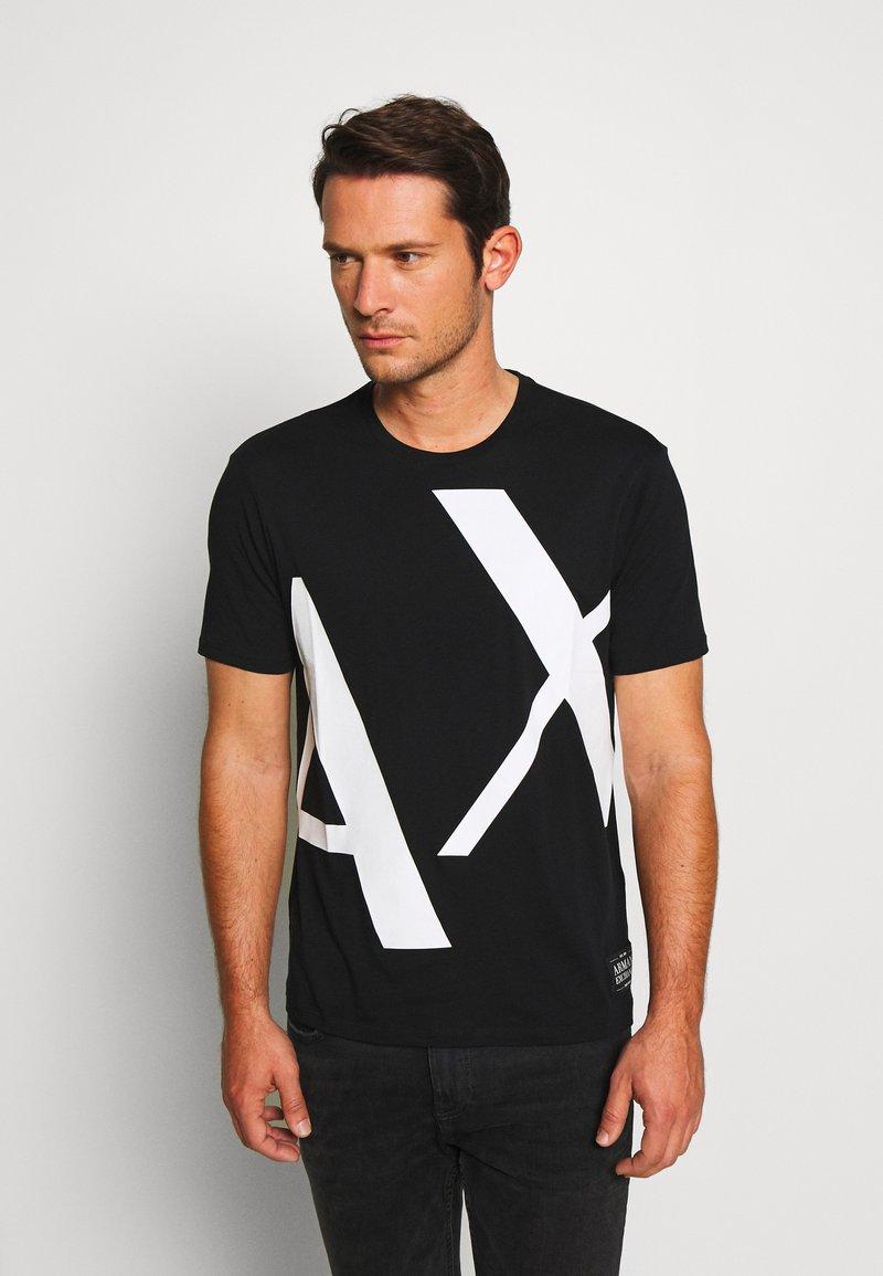 Armani Exchange - T-shirt z nadrukiem - black