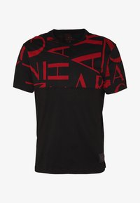 Armani Exchange - T-shirt med print - black/syrah - 3