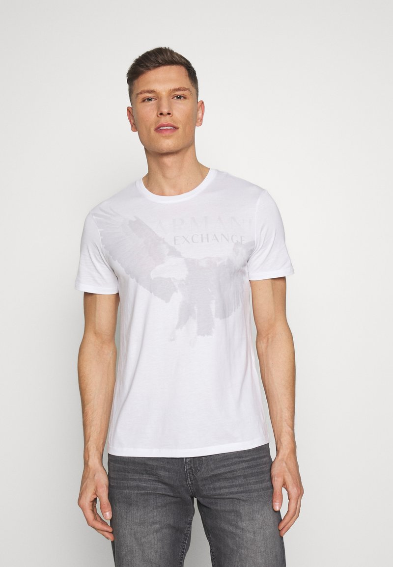 Armani Exchange - T-shirt imprimé - white