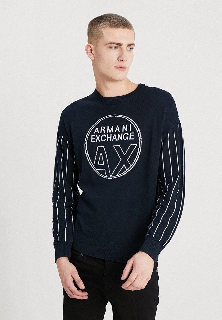 Armani Exchange - Trui - navy/white