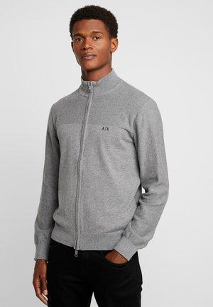 Strickjacke - melange grey