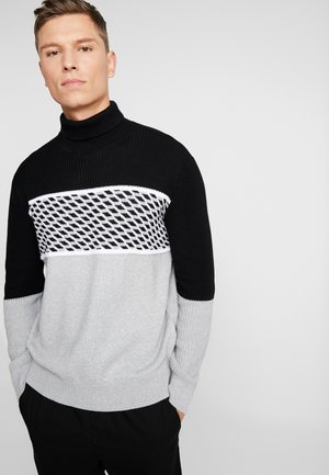 Sweter - black/grey