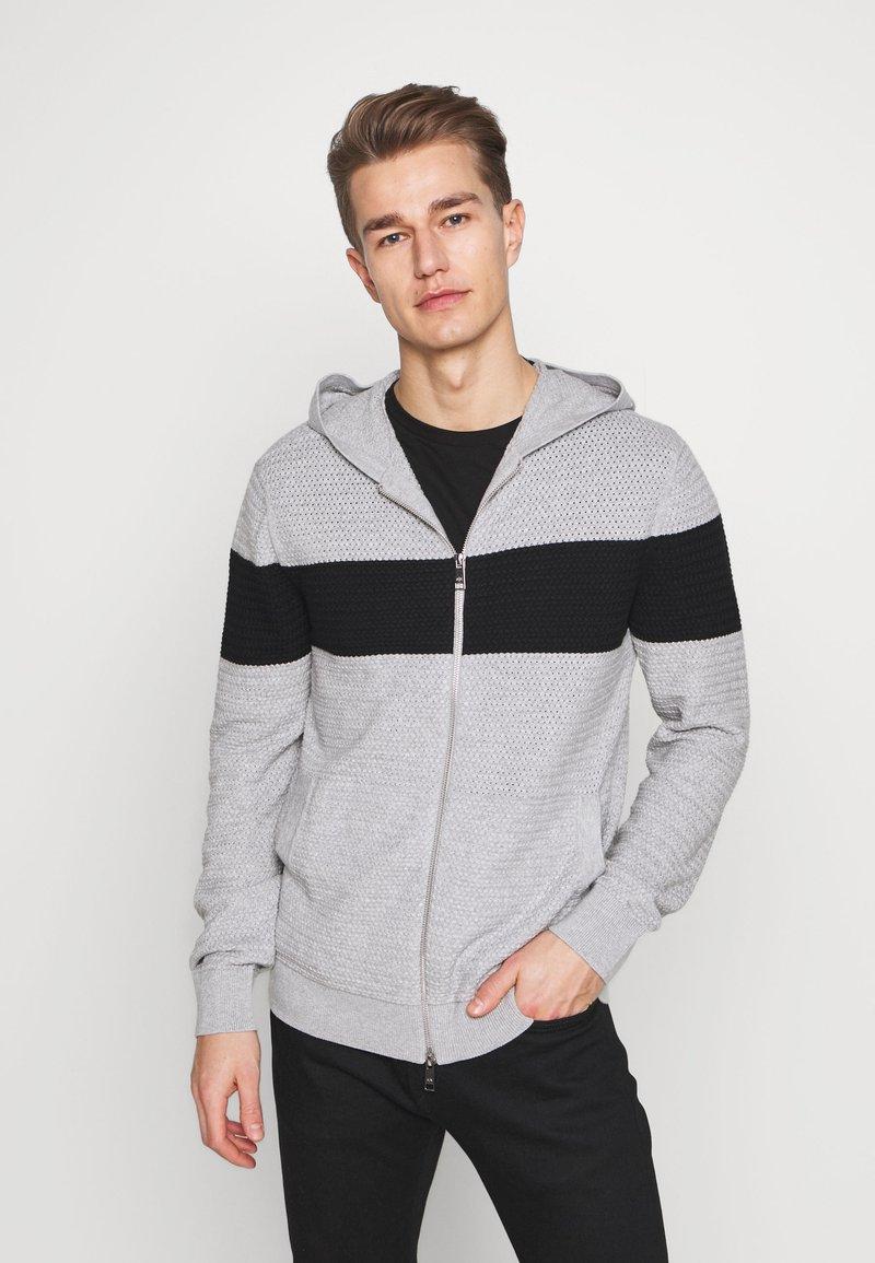 Armani Exchange - Chaqueta de punto - gray/black