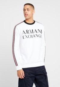 Armani Exchange - Top sdlouhým rukávem - white - 0
