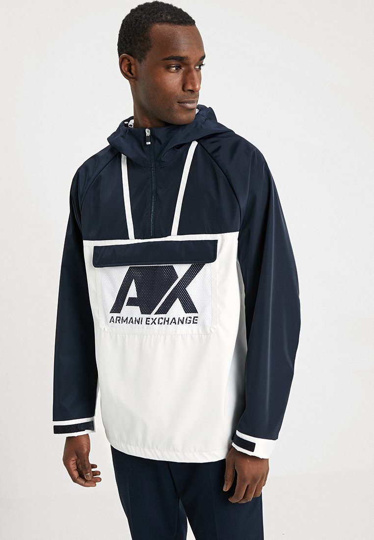 Armani Exchange - Windbreaker - white/navy