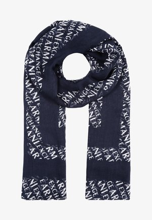 SCARF - Sjaal - navy/white