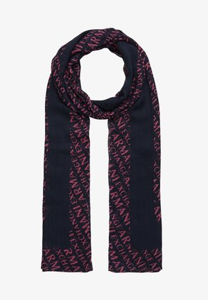 SCARF - Šála - navy/rose quartz