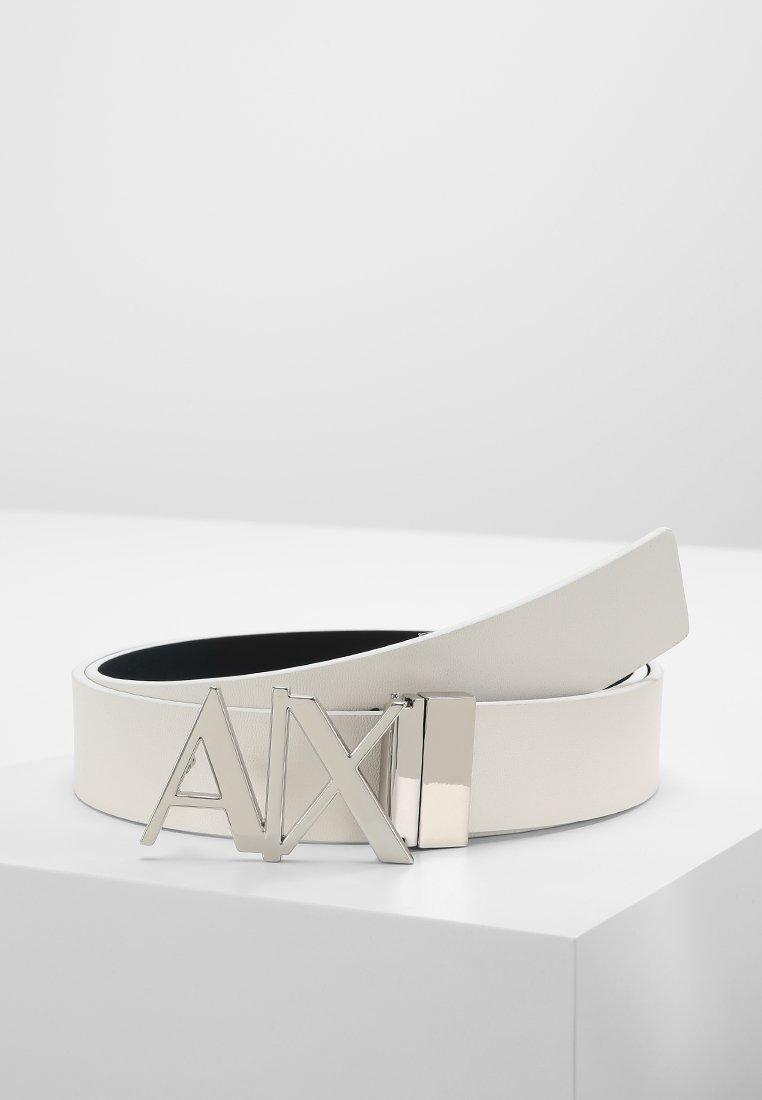 Armani Exchange - BELT - Pásek - white/navy