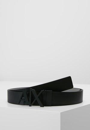 BELT - Ceinture - black/silver