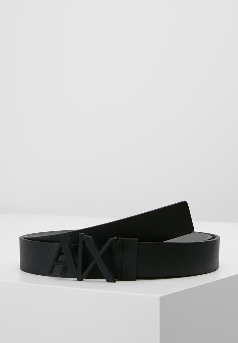 Armani Exchange - BELT - Cintura - black/silver