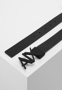 Armani Exchange - BELT - Cintura - black/silver - 2
