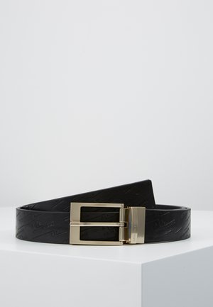 BELT WITH DOUBLE BUCKLES SET - Belt - black