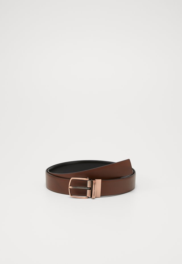 BELT - Gürtel - black/brown