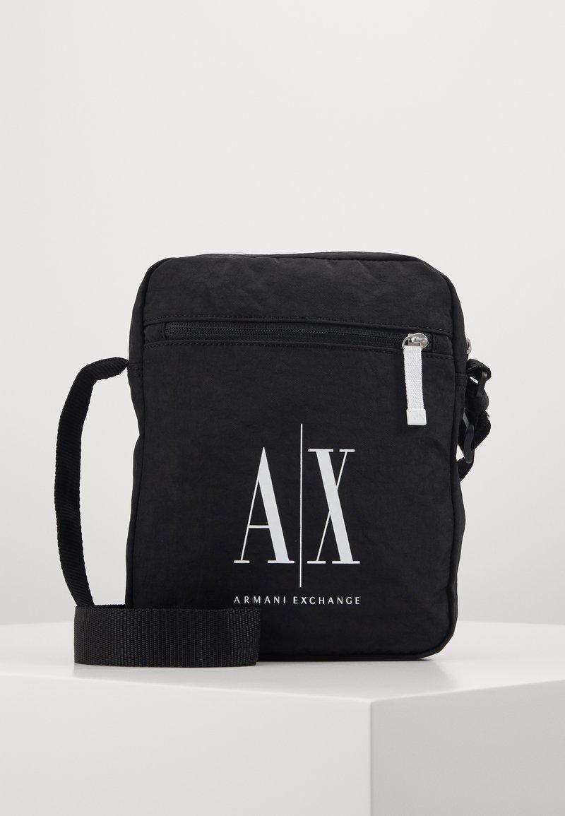 Armani Exchange - SMALL CROSSBODY BAG - Borsa a tracolla - black
