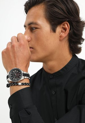 SET - Chronograph watch - black/silver-coloured