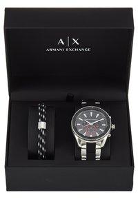 Armani Exchange - SET - Chronograph watch - black/silver-coloured - 3