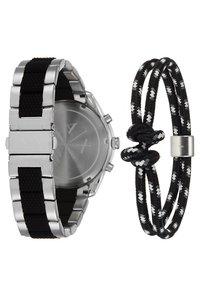 Armani Exchange - SET - Chronograph watch - black/silver-coloured - 2