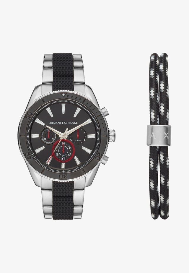 SET - Chronograph - black/silver-coloured