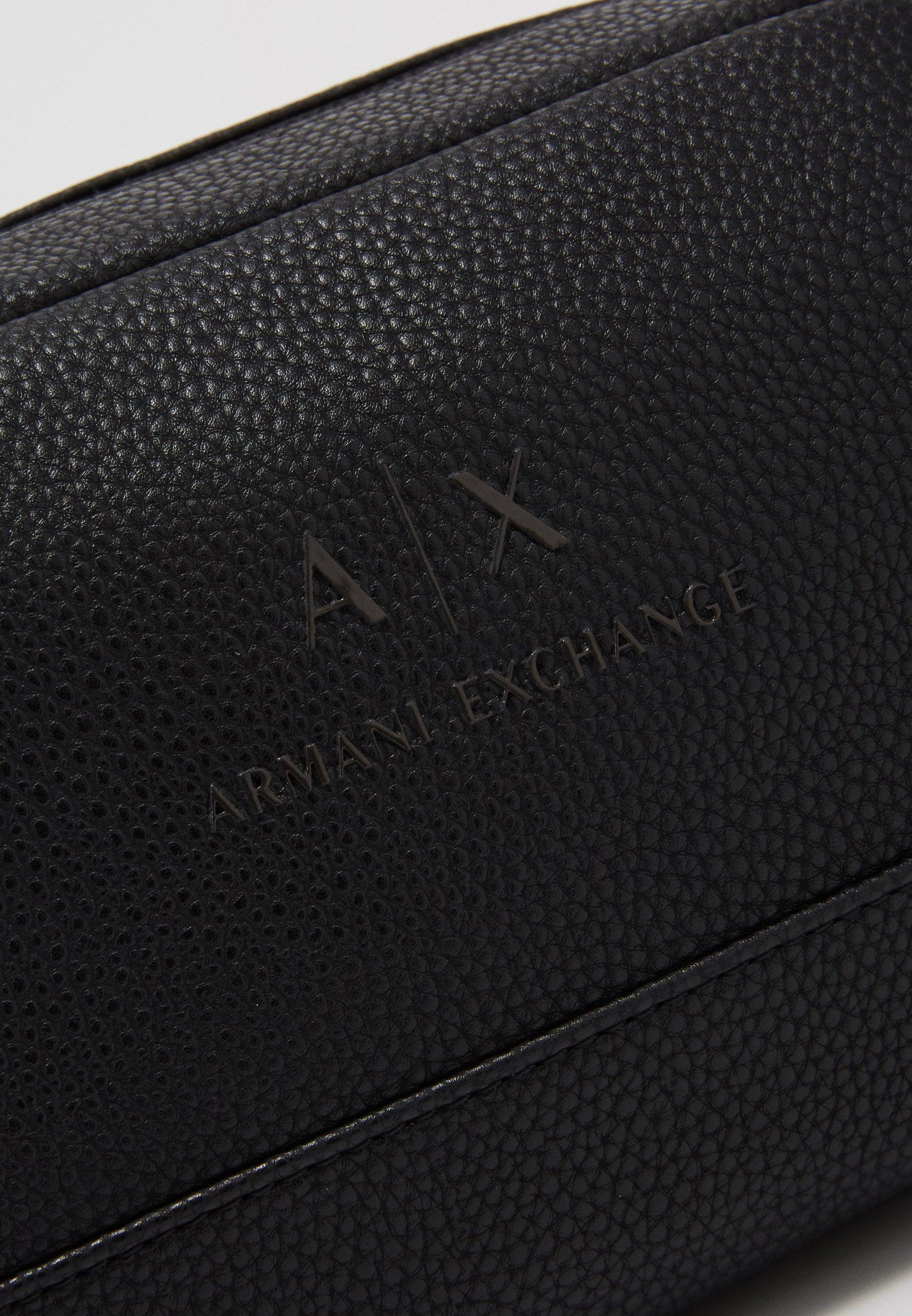 Armani Exchange WASHBAG - Necessär - black/gunmetal
