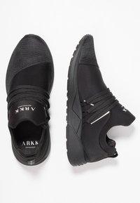 ARKK Copenhagen - RAVEN - Sneakers laag - all black/white - 1