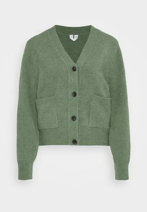 CARDIGAN - Cardigan - green medium dusty