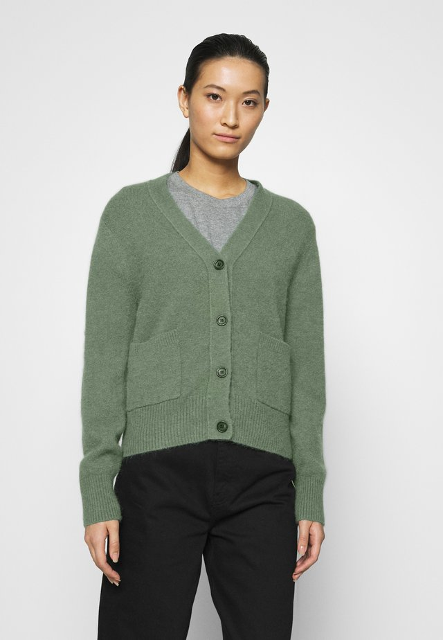CARDIGAN - Neuletakki - green medium dusty
