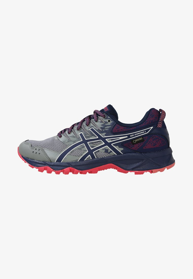 ASICS - GEL-SONOMA 3 G-TX - Trail running shoes - stone grey/pixel pink