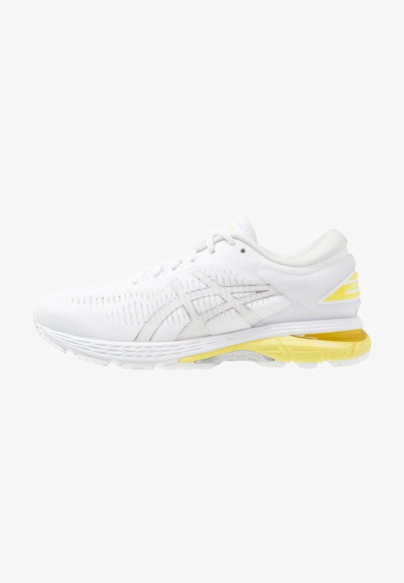 ASICS - GEL KAYANO 25 - Stabiliteit hardloopschoenen - white/lemon spark