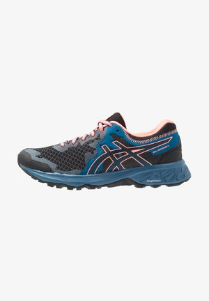 GEL-SONOMA 4 - Trail running shoes - black/sun coral