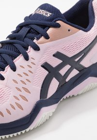 ASICS - GEL-CHALLENGER 12 CLAY - Clay court tennis shoes - candy/peacoat - 5