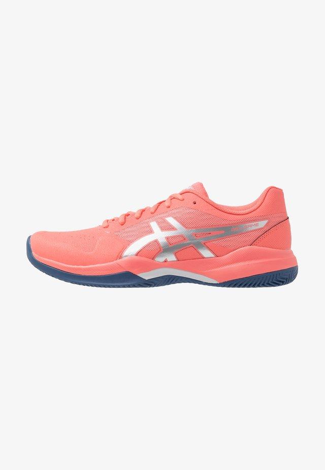 GEL-GAME 7 CLAY - Zapatillas de tenis para tierra batida - papaya/silver