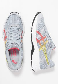 ASICS - GEL-CONTEND 5 - Zapatillas de running neutras - piedmont grey/laser pink - 1