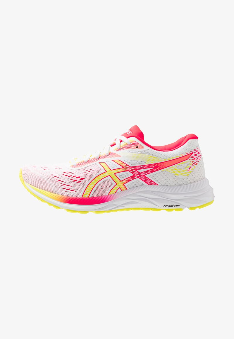 ASICS - GEL-EXCITE 6 - Neutral running shoes - white/sour yuzu
