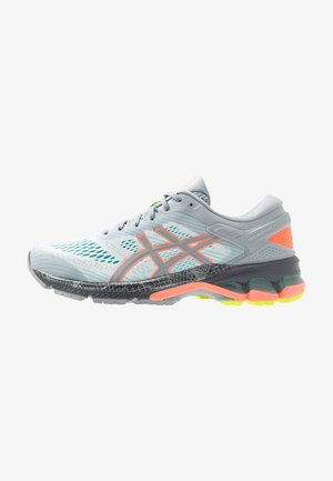 GEL-KAYANO 26 LS - Zapatillas de running neutras - piedmont grey/sun coral