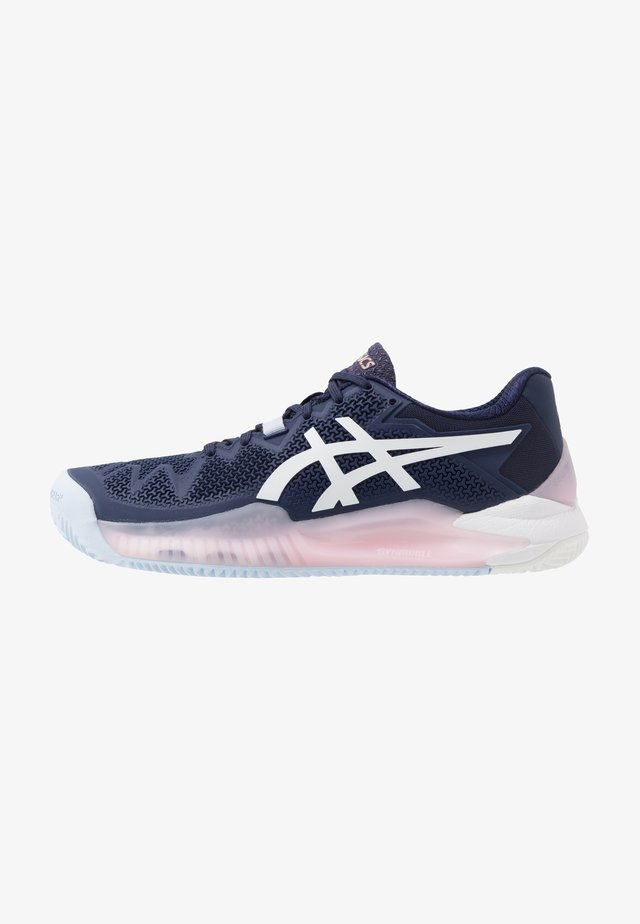 GEL-RESOLUTION 8 CLAY - Tennisschoenen voor kleibanen - peacoat/white