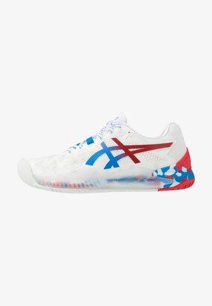 GEL-RESOLUTION 8 - Tenisové boty na všechny povrchy - white/electric blue