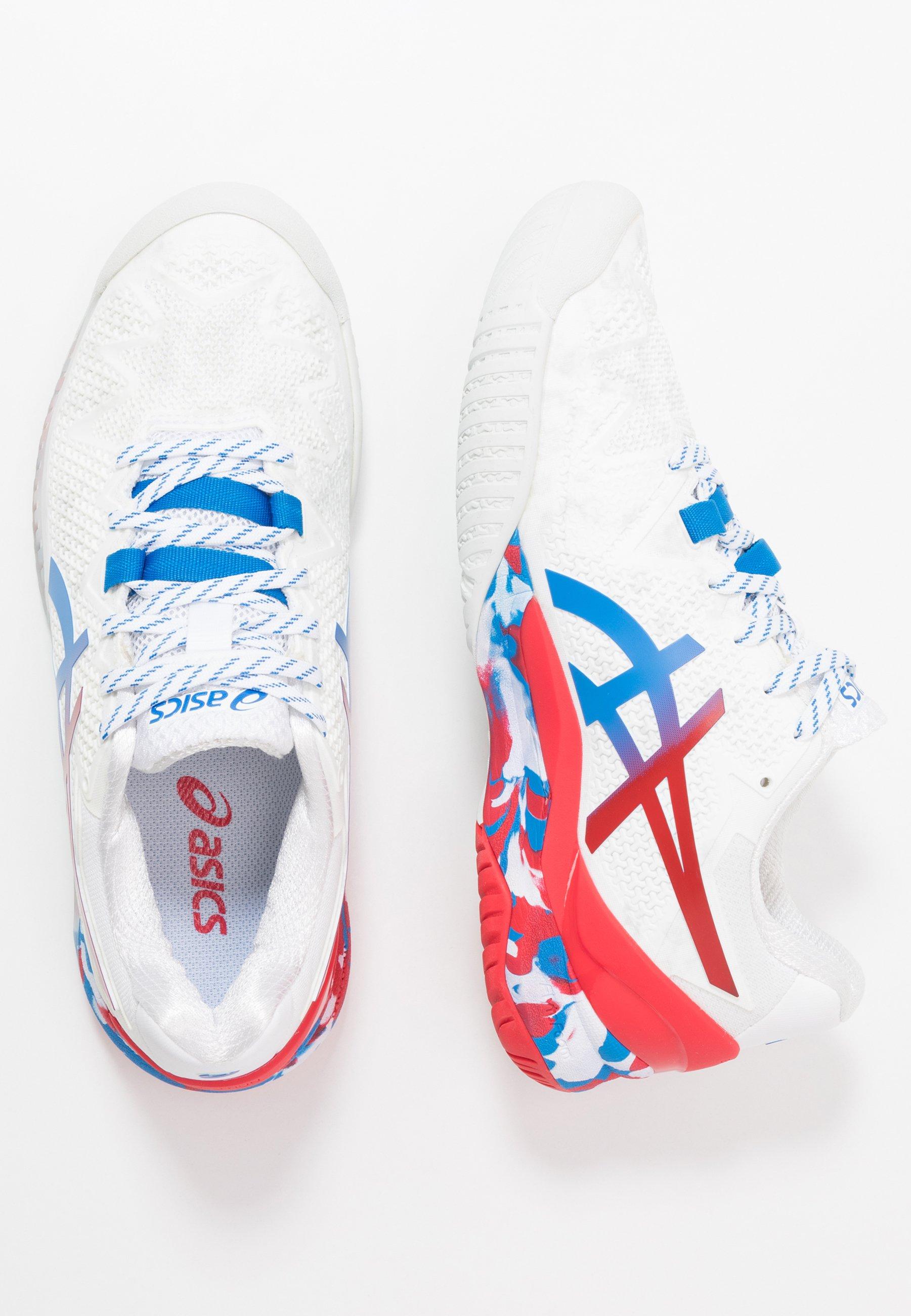 GEL RESOLUTION 8 Tennisschoenen voor alle ondergronden whiteelectric blue