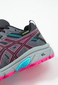 ASICS - GEL-VENTURE 7 WP - Trail running shoes - black/pink - 5
