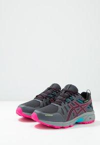ASICS - GEL-VENTURE 7 WP - Trail running shoes - black/pink - 2