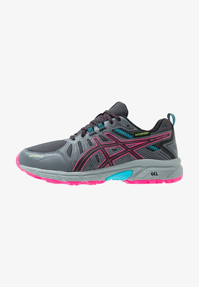 GEL-VENTURE 7 WP - Zapatillas de trail running - black/pink